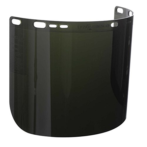 Honeywell K4529080 Kimberly-Clark Professional Jackson Safety Allsafe SMC Model F50 8'' X 15 1/2'' X .06'' Green Shade 5 Unbound Polycarbonate Faceshield For Use With Headgear, 30.68 fl. oz. 0.06' Green Shade