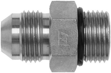 Steel Straight Adapter 3//4 in Male JIC 37/° Flare x 1//2 in Male O-Ring Boss Pack of 15 Brennan 6400-12-08-O