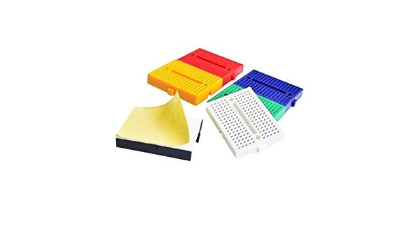Details about  /10 Pcs Mini Solderless Prototype Breadboard Terminal Strip Tie-point 170
