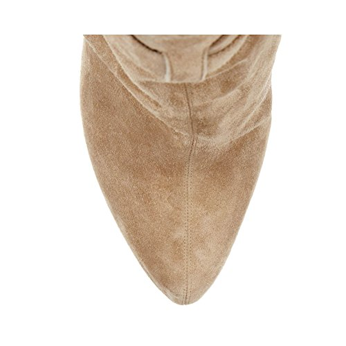 Mavirs Womens Cyjk Khaki Punta Rotonda Piattaforma Stivaletti Tacco Alto Scarpe Kaki Di Grandi Dimensioni