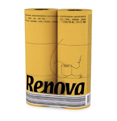 Renova 3 Ply Soft Colour Toilet Loo Bathroom Tissue Paper Rolls 6 Pack YELLOW Amazoncouk Grocery