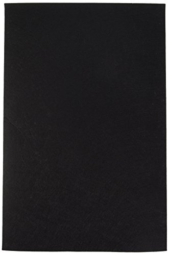 Darice 12 by 18 inch, Stiff Felt Sheet, Black, 1 (12