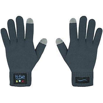 Hi-Fun HFHiCALL-MGR Hi-Call Bluetooth Glove - Bluetooth Headset - Retail Packaging - Mens Grey