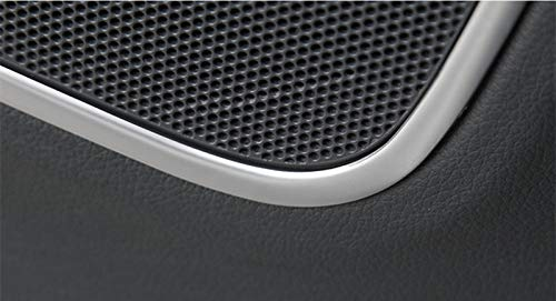 wroadavee Interior Car Door Speaker Frame Cover Trim 4pcs for Audi Q3 8U 2012-2017