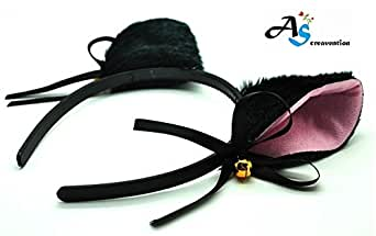 Woman Cat Ear Headband, Black