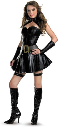 Disguise Unisex Adult Sassy Deluxe GI Joe Baroness, Black, Medium (8-10) Costume