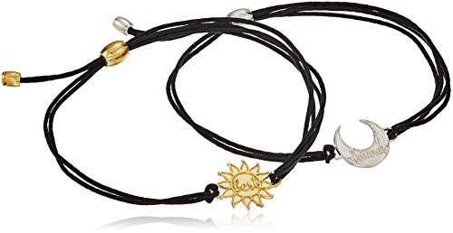 (Alex and Ani Kindred Cord, Sun and Moon Sterling Silver/14K Gold Plated Bangle Bracelet)