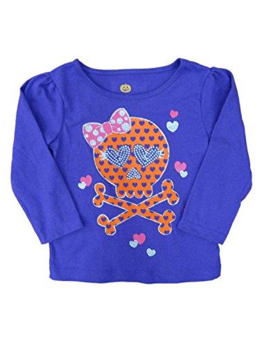 Happy Halloween Infant & Toddler Girls Purple Skull T-shirt Heart Tee Shirt (Walmart Halloween Shirts)