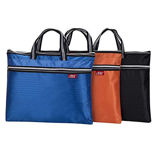 Waterproof Zipper Business Document Bag Travel Messenger Bags A4 File Bags Office Filing Storage Bags Carrying Notebook Portfolio,Planner, Journal Book for Home School Office Work Meeting - Fax Paper Accufax
