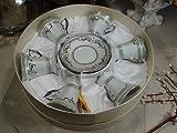 12pc Espresso Set Deco Silver For Sale