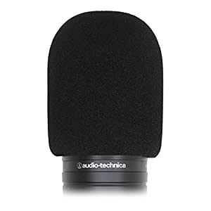 YOUSHARES Audiotechnica AT2020 Foam Mic Windscreen - Large Size Microphone Cover Pop Filter for Audio Technica AT2020 and Other Similar Size Microphones, Black (Single Pack)