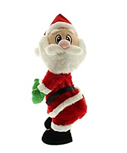 36cm twerking santa claus moving dancing animation for Animated santa claus decoration
