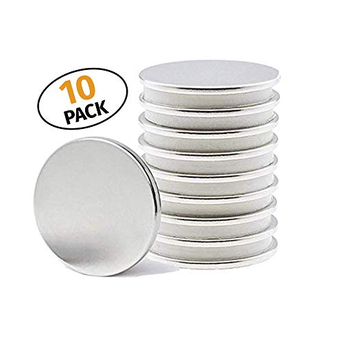 (Topeka Trading Co. N52 Neodymium Disc Magnets   Industrial-Grade & Extra-Strong   Crafting & Organization   Kitchen, Workspace, or Office Magnets (10 Pack))