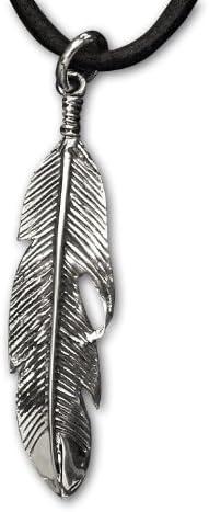 Anhänger Feder Indianerfeder 925 Sterling Silber L 5cm
