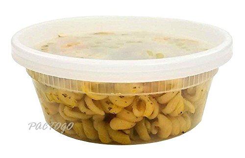 Pactiv 8 oz. DELItainer Plastic Freezer Food Storage Deli...