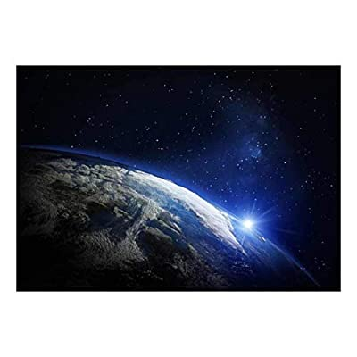 Grand Picture, Planet Earth in Rotation with a Bright Light Wall Mural, Classic Design