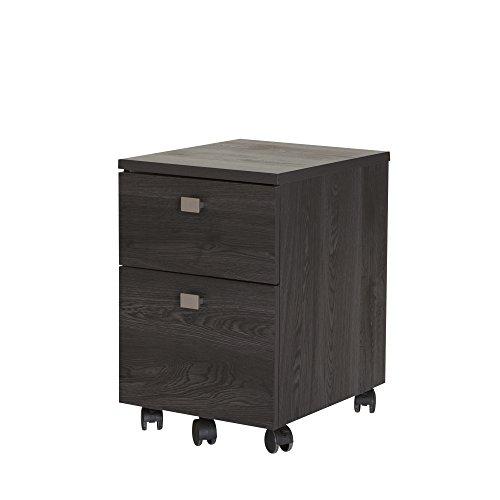 South Shore Interface 2-Drawer Mobile File Cabinet, Gray Oak