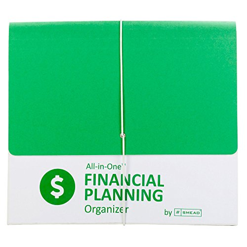 Smead All-in-One Financial Planning Organizer with Flap and Cord closure, 13 Pockets, Letter Size, Green/White (92071)