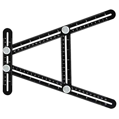 Angle Template Tool,Moongo Multi Angle Template Ruler Tool Measures All Angles for Builders Craftsmen Handymen