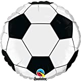 Sports & National Themed Balloons Qualatex Black & White Football/Soccer Ball 9 Inch Mini Foil Balloons on Sticks x 5