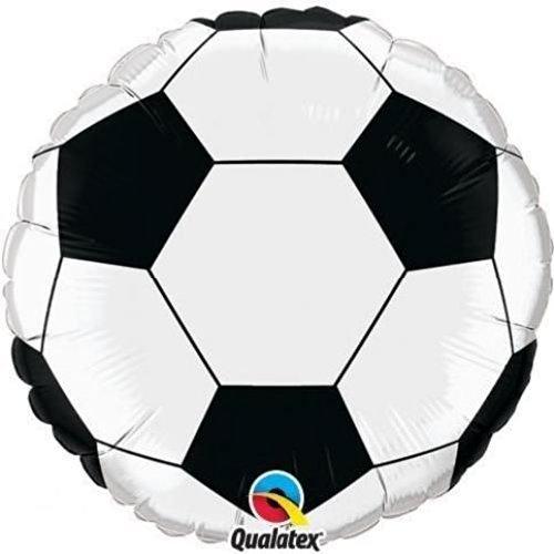 Sports & National Themed Balloons Qualatex Black & White Football/Soccer Ball 9 Inch Mini Foil Balloons on Sticks x 5 by Sports & National Themed Balloons