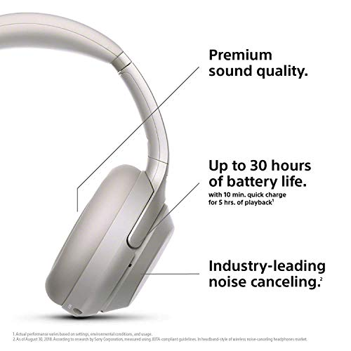 SONY WH-1000XM3 Wireless Noise canceling Stereo Headset(International Version/Seller Warrant) (Silver) by Sony (Image #2)