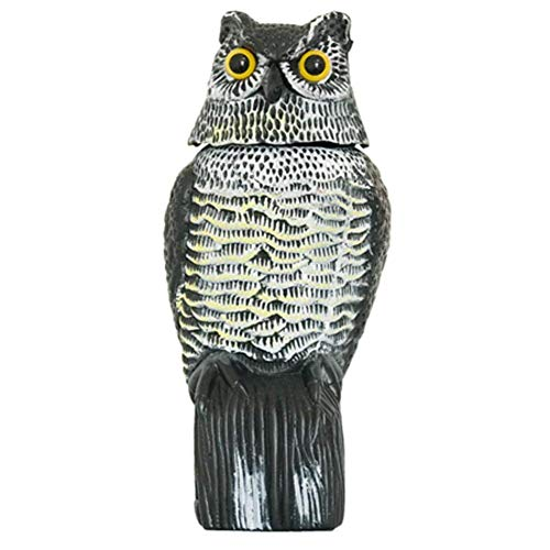 eronde Owl Decoy Garden Fake Owl Decoys with Rotating Head Garden Bird Repellent - for Birds, Squirrels, Mice, Rabbits & More