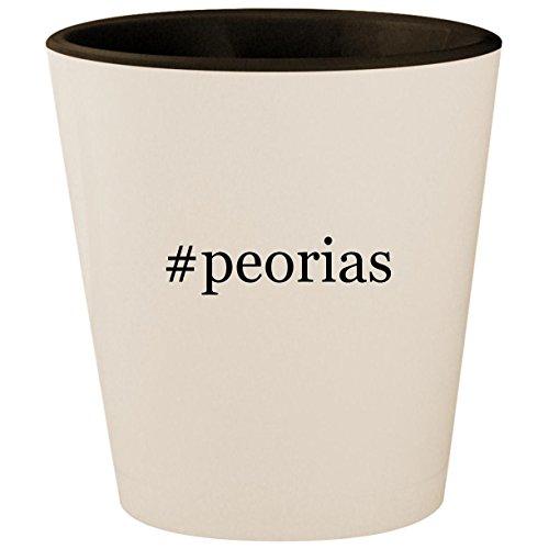 #peorias - Hashtag White Outer & Black Inner Ceramic 1.5oz Shot -