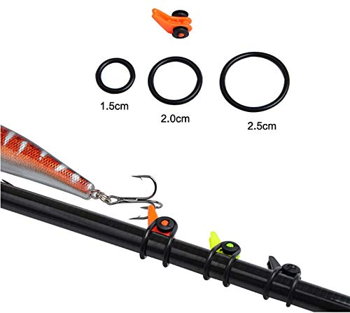 HIVE FIVE STORE 5 Sets Lure Fishing Bait Hanger Plastic Lure Rod Hooks Baits Adjustable Holder Keeper Lure Fishing Accessories Wholesale ()