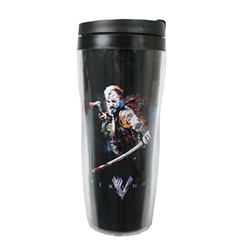 Vikings Floki Travel Coffee Mug - Insulated Tumbler Cup 10 Oz - History Channel TV Show Officially Licensed (Channel Coffee Cup compare prices)