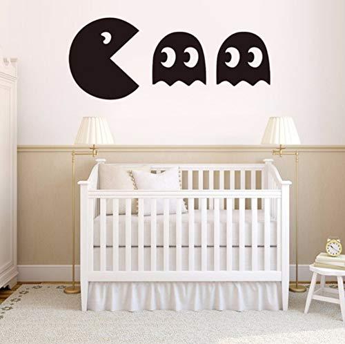 (Pbldb DIY Wallpaper Pacman Game Vinyl Wall Decal Home Decor Living Room Bedroom Removable Wall Stickers)