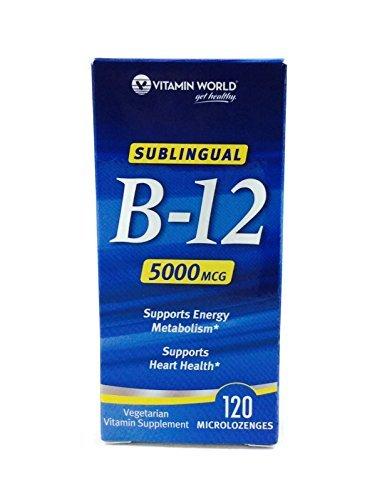 Cheap Vitamin World Sublingual B-12 5000mcg, 120 MicroLozenges