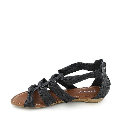 Sandalo Da Donna In Bambù Seminario-01 Nero