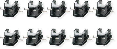 Martin Yale MP250 Master 2-Hole Paper Punch (Pack of 10), Black, 9/32