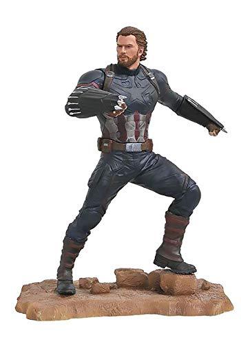 America Statue - DIAMOND SELECT TOYS Marvel Gallery: Avengers Infinity War Movie Captain America PVC Diorama Figure