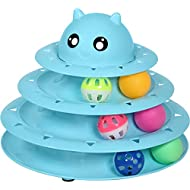 UPSKY Cat Toy Roller Cat Toys 3 Level Towers Tracks Roller with Six Colorful Ball Interactive Kitten Fun Mental Physical Exercise Puzzle Toys