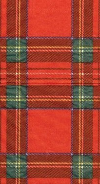 Entertaining with Caspari Royal Plaid Guest Towels, 15-Pack