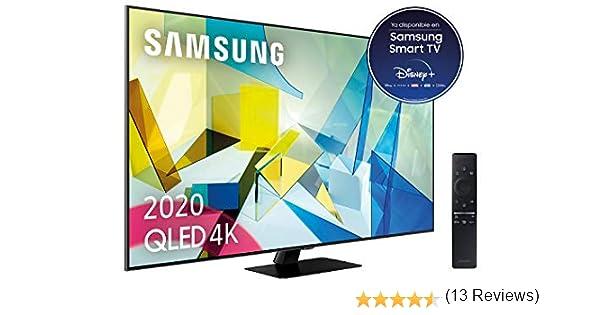 """Samsung QLED 4K 2020 65Q80T - Smart TV de 65"""" con Resolución 4K UHD, Direct Full Array HDR 1500, Inteligencia Artificial 4K, HDR 10+, Ambient Mode+, One Remote Control y Asistentes de Voz integrado"""