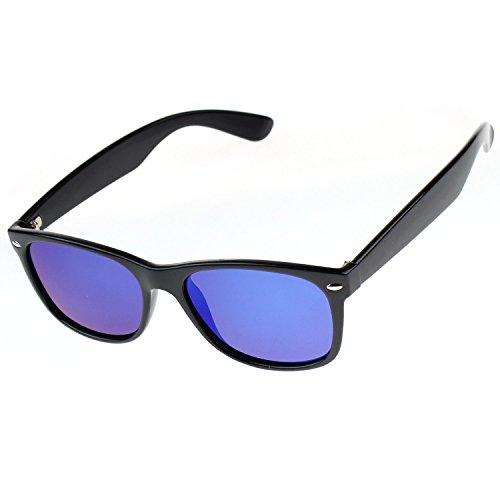 Jaky Wayfarer Outdoor Aviator Polarized Sunglasses Classic Anti-Glare (Black Frame Blue Lens, - Or Wayfarer Aviator
