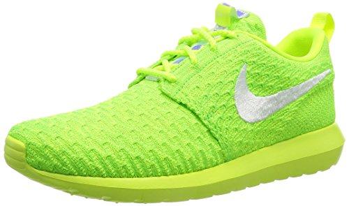 Nike Menns Roshe Nm Flyknit, Volt / Hvit-elektrisk Grønn, 10,5