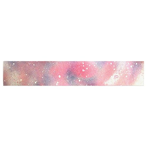 Kess InHouse TC1003ATR01 Infinite Spray Art Cascade Swirl Red Pink Table ()