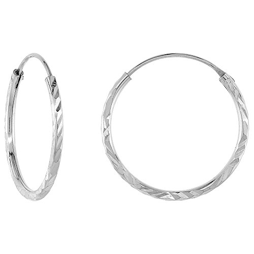 Sterling Silver Diamond Earrings Diameter