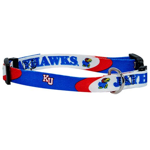 NCAA Hunter MFG Univeristy of Kansas Jayhawks Dog Collar, Large
