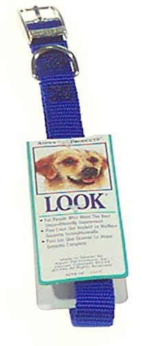 Doskocil Aspen Pet Products NYL Collar, Blue, 16