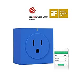 Orvibo Wifi Smart Plug, Control Your Devices from Everywhere, No Hub Required, Wireless Switch with APP, Works with Amazon Alexa for Household Appliances - Blue