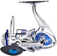 Diwa Spinning Fishing Reels for Saltwater Freshwater 3000 4000 5000 6000 7000 Spools Ultra Smooth Ultralight P