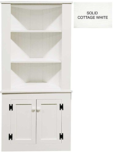 Wooden Corner Hutch (Solid - Cottage White)