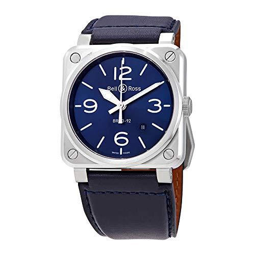 Bell & Ross Instruments Blue Steel Men's Watch BR0392-BLU-ST/SCA ()