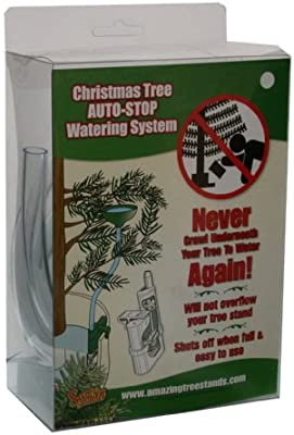 Amazon Com Santa S Solution Auto Stop Christmas Tree Watering System Home Kitchen