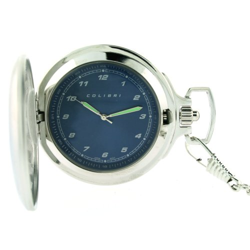 Colibri Pocket Watch with Military Time Blue Dial #PWQ096829J (Pocket Watch Blue Dial compare prices)